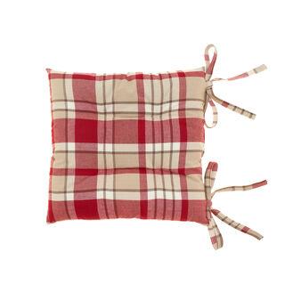 Yarn-dyed tartan seat pad