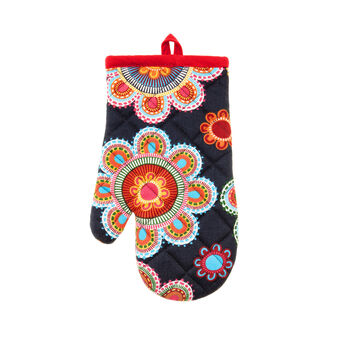 Gipsy Flower quilted oven mitt