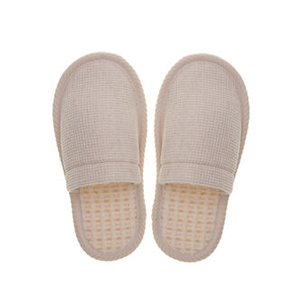 Thermae waffle-weave slippers