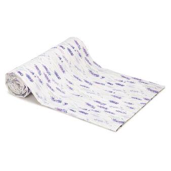 Telo arredo puro cotone stampa lavanda