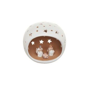 Capanna Natività in ceramica con tetto stellato