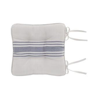 Cuscino da sedia cotone spigato con decoro righe