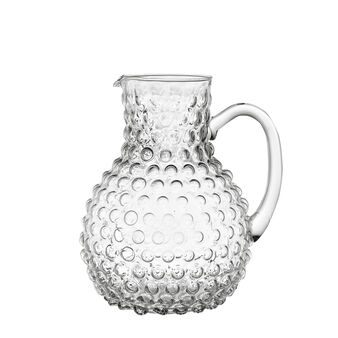 Glass carafe with bubble decoration