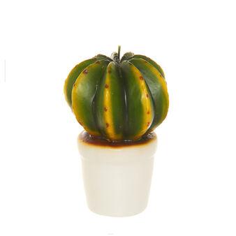 Candela cactus fatta a mano