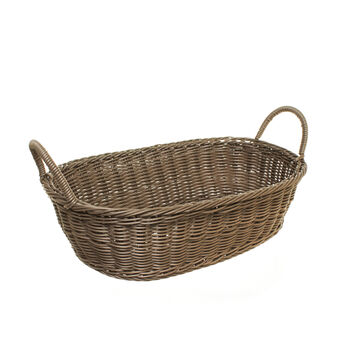 Oval PVC basket with handles
