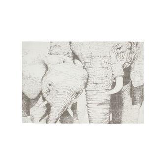 Elephant print table mat
