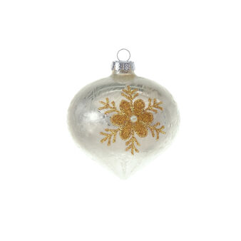 Glass onion bauble with micro-spheres D 8cm