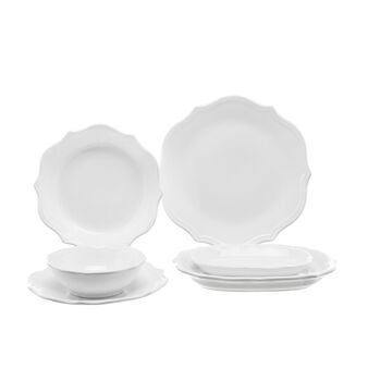 Adele white ceramic table range