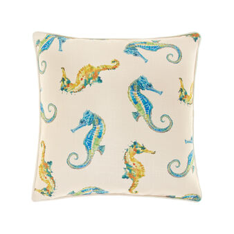 Cushion with seahorse print