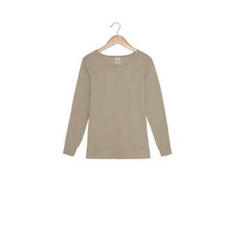 Long-sleeved T-shirt with round neck