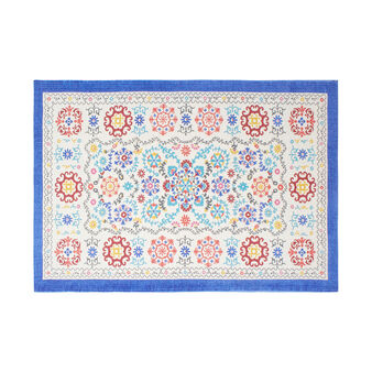 100% cotton kitchen mat with majolica print