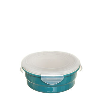 Ceramic round container with lid