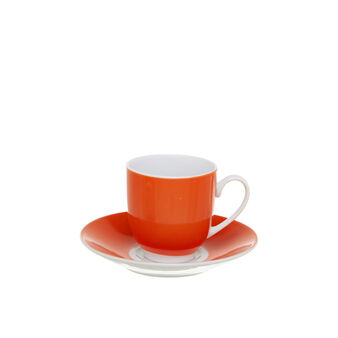 Orange porcelain coffee cup