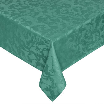 Tablecloth and 8 napkins set in 100% damask Egyptian cotton