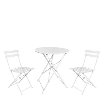 Bistrot table and two chairs set