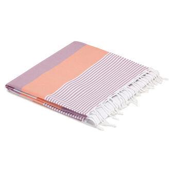 100% cotton striped pattern throw