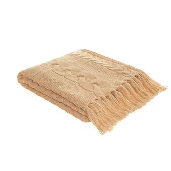 Wool blend knitted bedspread