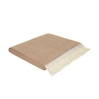 Cotton blend bedspread with fringe