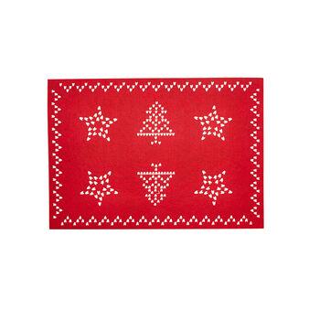 Tovaglietta feltro rettangolare fantasia natalizia