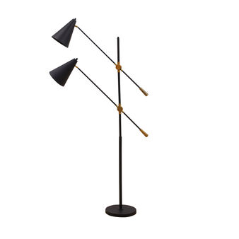 Cargo metal floor lamp