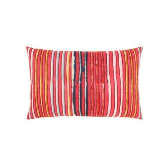 Cushion with striped digital print