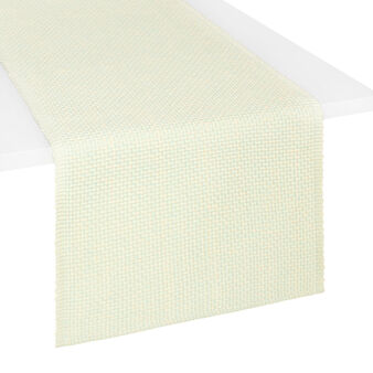 Rice grain patterned table runner