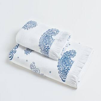 100% cotton towel with fish print