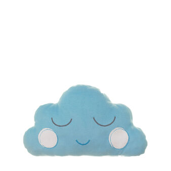 Cloud cushion in sky blue microfleece