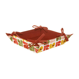 Basket with bows with Geometric print