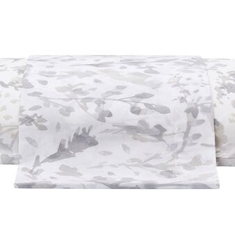 Cotton percale sheet 100% cotton percale plain sheet brushstroke-effect