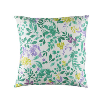 100% cotton cushion with botanical pattern