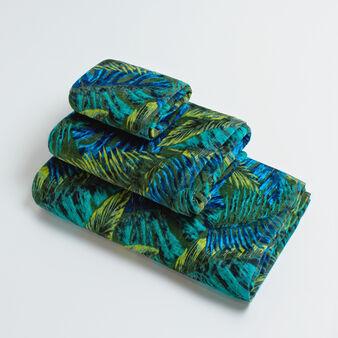 Asciugamano spugna puro cotone velour stampa tropicale