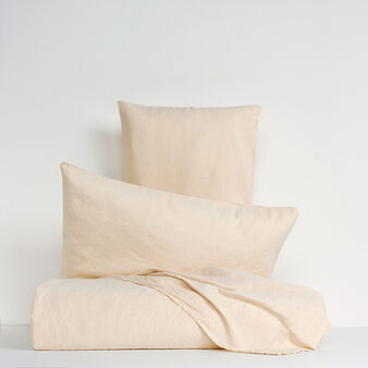 Solid colour bed linen range in linen blend