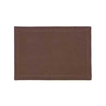 100% cotton table mat with hemstitch border