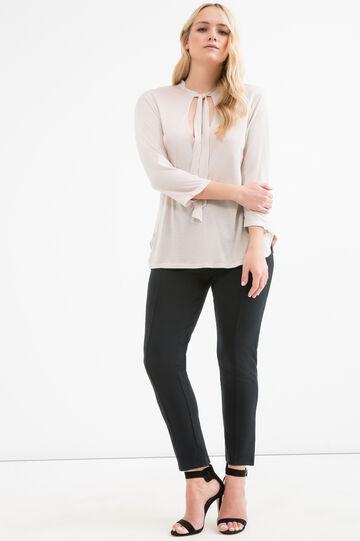 Curvy 100% viscose T-shirt, Chalk White, hi-res