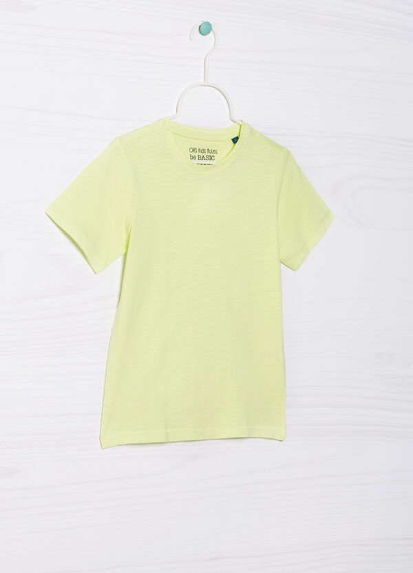 Solid colour 100% cotton T-shirt | OVS