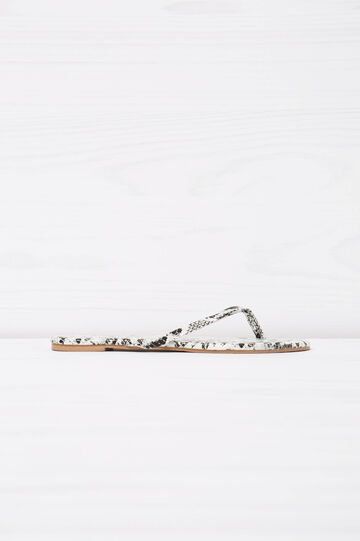 Snakeskin pattern thong sandals