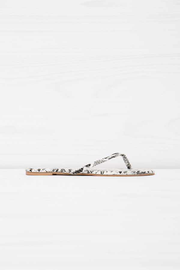 Snakeskin pattern thong sandals | OVS