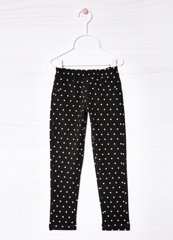 Printed stretch jeggings | OVS