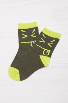 Two-pair pack stretch socks, Green, hi-res