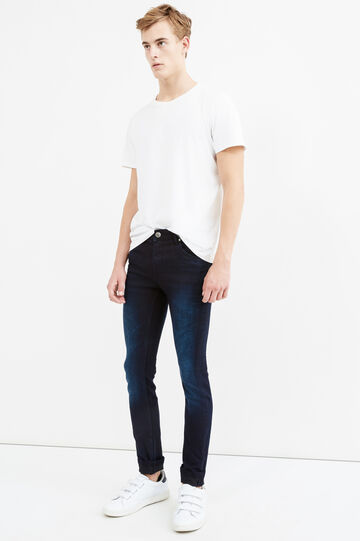 Faded-effect, super skinny-fit jeans, Dark Wash, hi-res