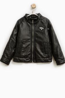 High-neck jacket with zip, Black, hi-res