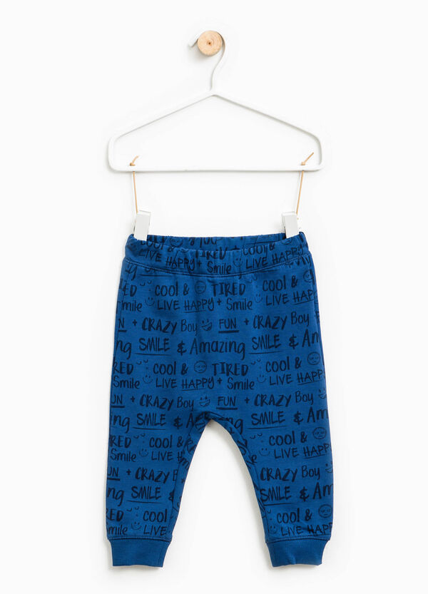 Joggers with lettering pattern | OVS