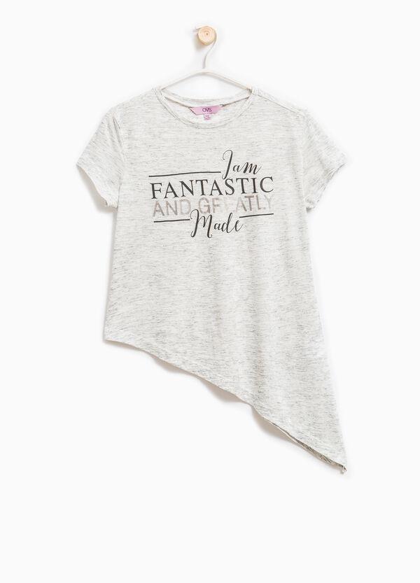 Camiseta en viscosa elástica con estampado | OVS