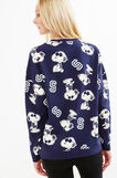 Cotton sweatshirt with Snoopy pattern, Blue, hi-res