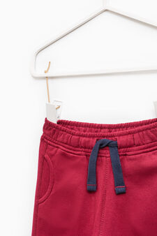 Cotton joggers with drawstring, Red, hi-res