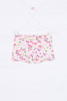 Floral stretch shorts, Pink, hi-res