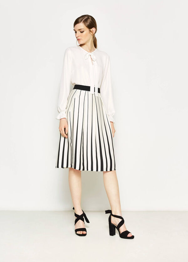 Striped longuette skirt | OVS