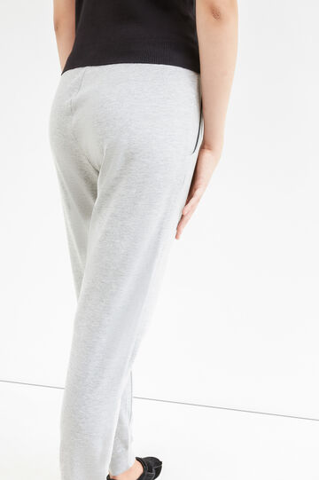 Cotton joggers with drawstring, Grey Marl, hi-res