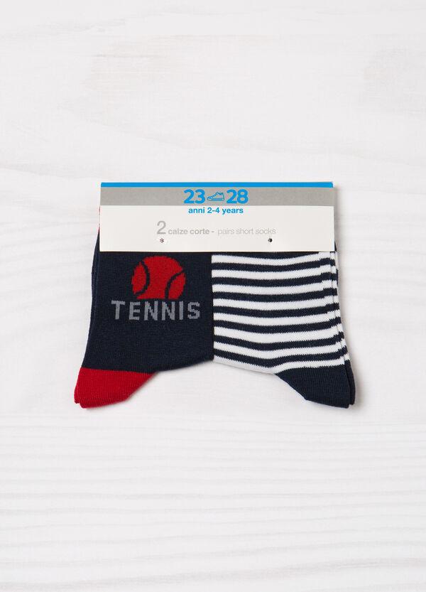 Set due paia di calze corte stretch | OVS